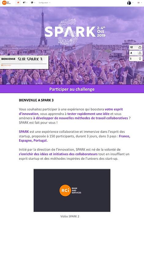 Challenge participatif de RCI Bank and Services SPARK