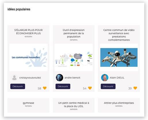 La génération d'idées dans la plateforme ECDYS OpenLab
