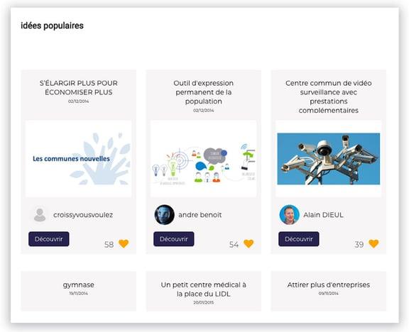 Plateforme Ecdys Openlab : les idées populaires